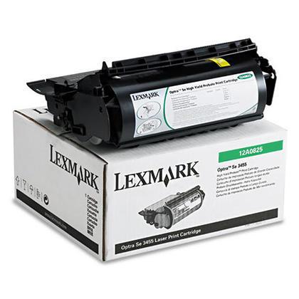 Lexmark 12A0825 Original Black Return Program Toner Cartridge