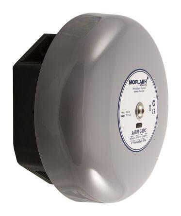 Moflash Grey Solenoid Bell, 106dB at 1 Metre, 12 V dc