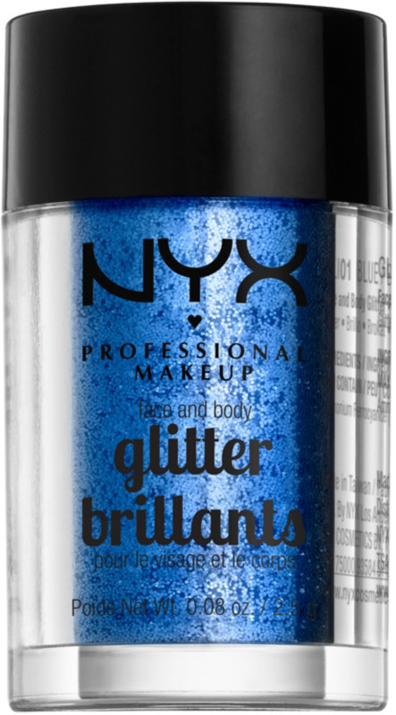 Face and Body Glitter - Blue