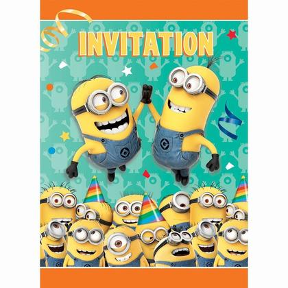 Despicable Me Minions Invitations Party 8Pcs For Birthday Party
