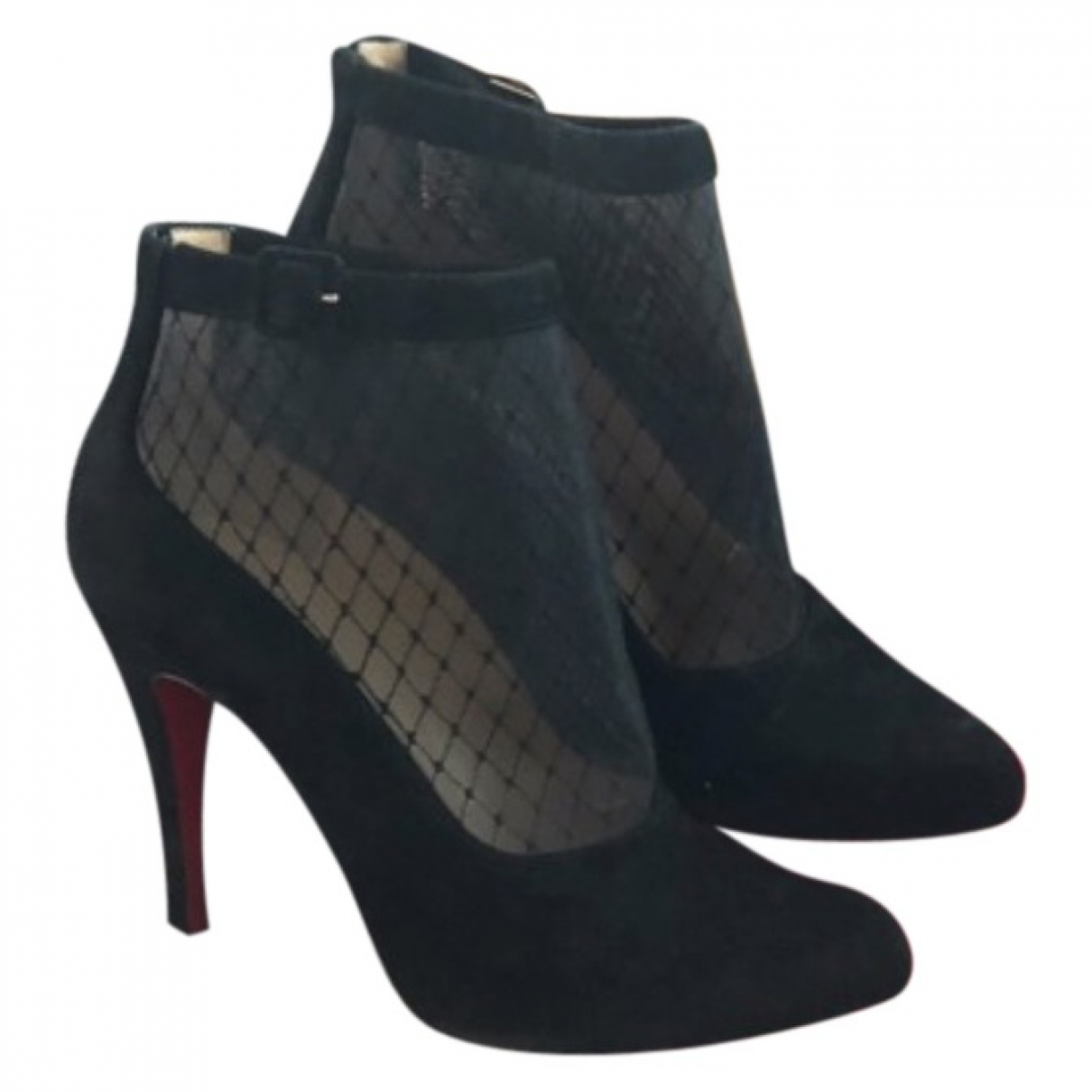 Christian Louboutin \N Black Suede Ankle boots for Women 40 EU