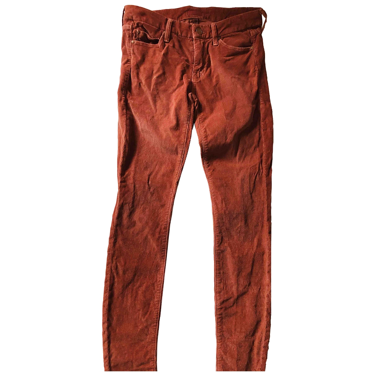 M\N Red Cotton - elasthane Jeans for Women 27 US