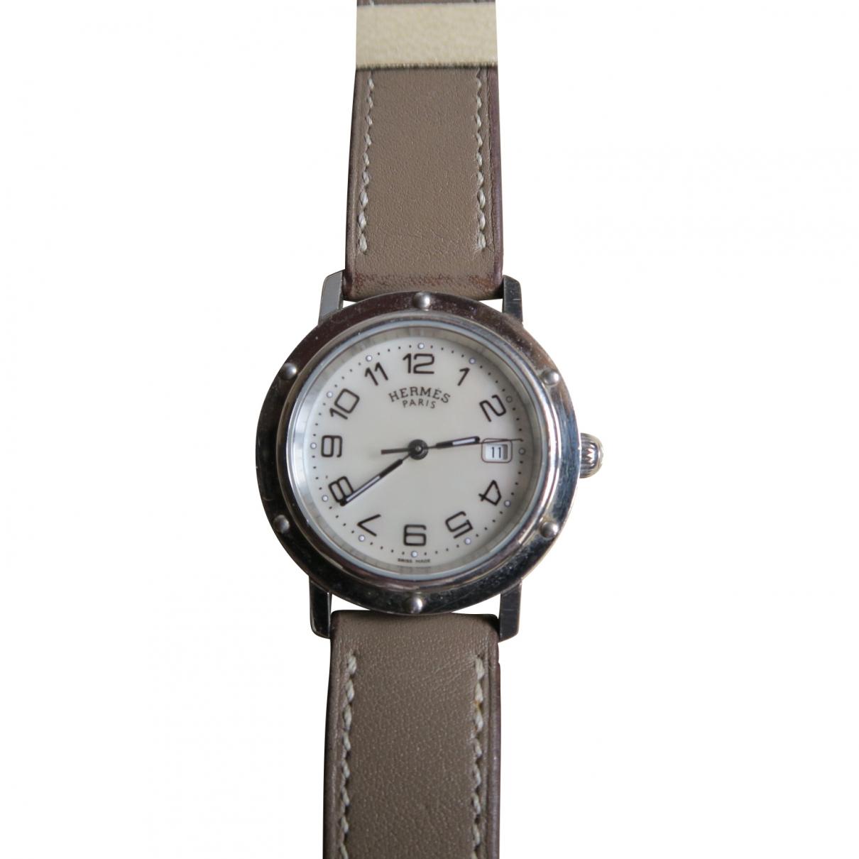 Hermès Clipper Ecru Steel watch for Women \N