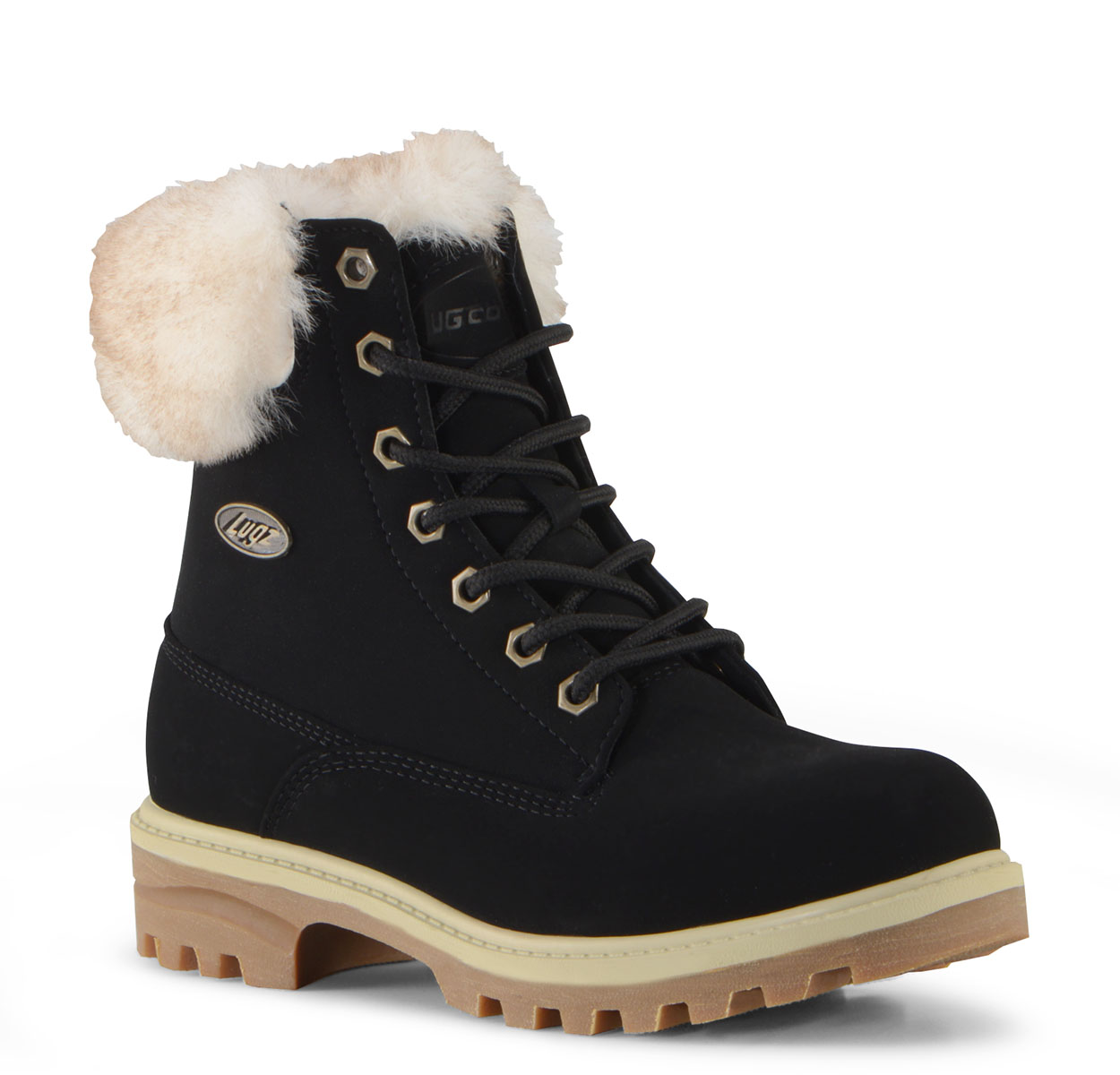 Women's Empire Hi Fur 6-Inch Boot (Choose Your Color: BLACK/CREAM/GUM, Choose Your Size: 8.0)