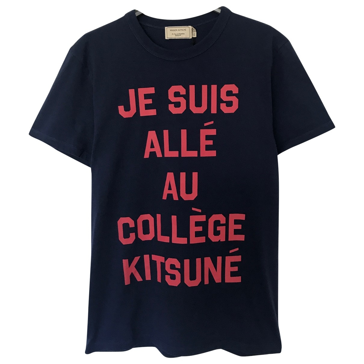 Maison Kitsune \N Navy Cotton T-shirts for Men XS International