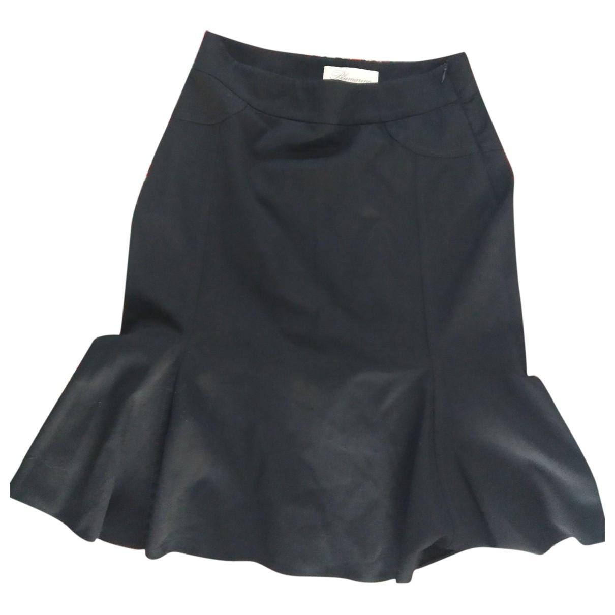 Blumarine \N Black Wool skirt for Women 42 IT