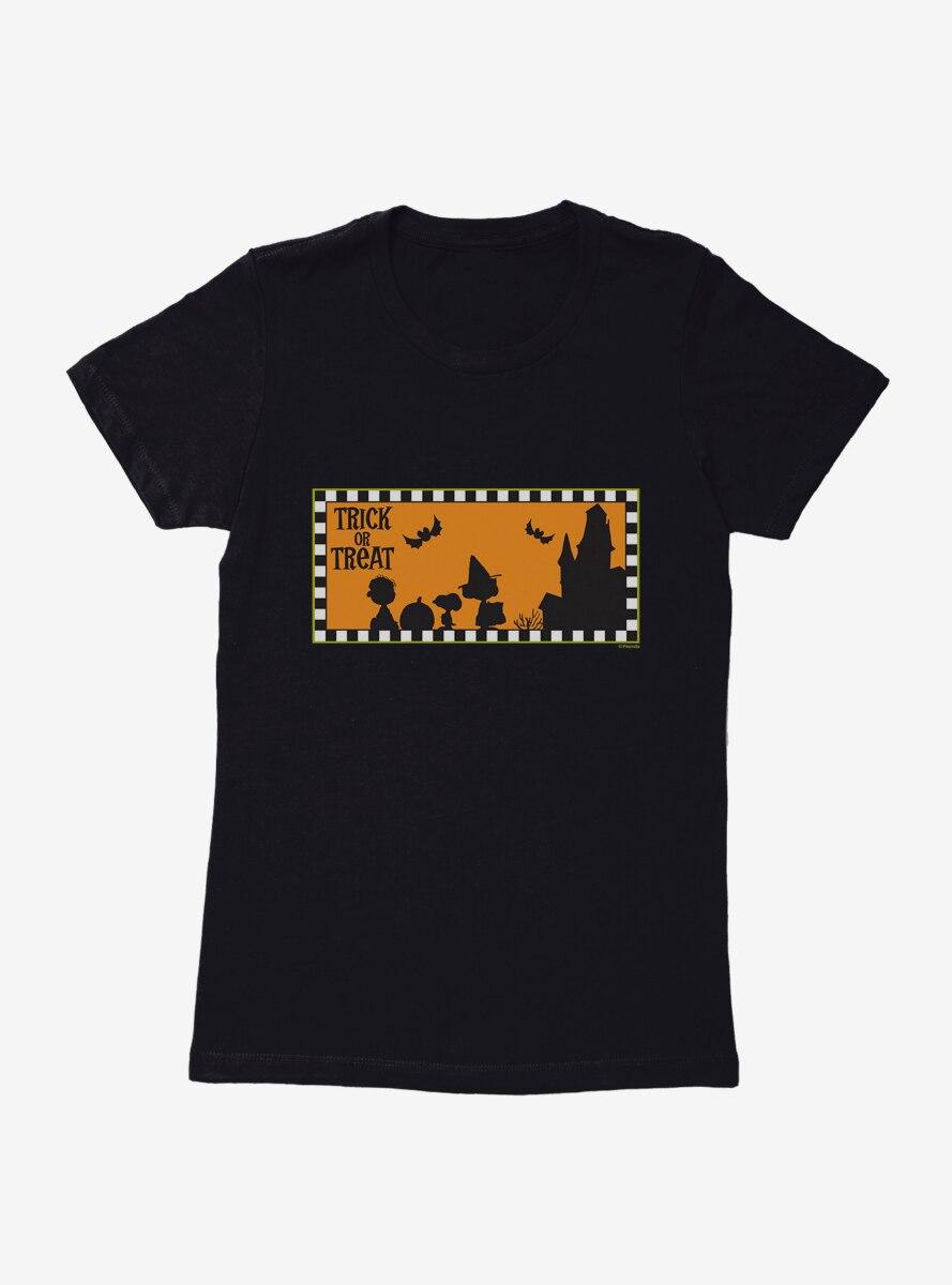 Peanuts Trick Or Treating Womens T-Shirt