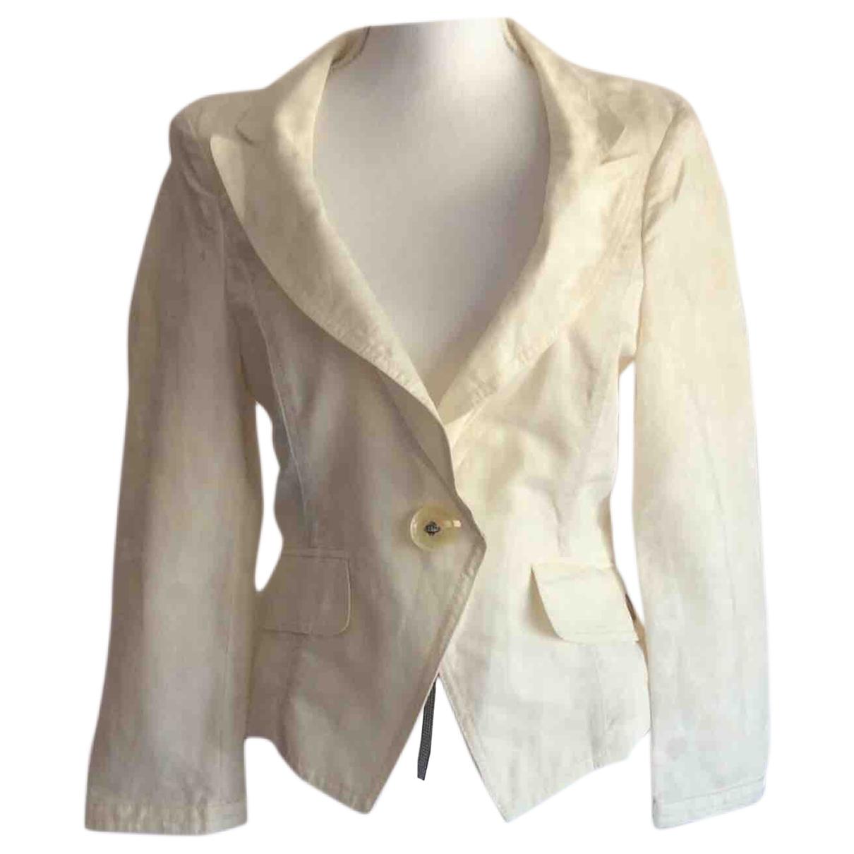 Boss \N Ecru Cotton jacket for Women 38 FR