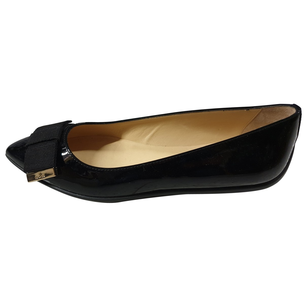 Hogan \N Black Patent leather Ballet flats for Women 36.5 EU