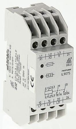 Dold Phase Monitoring Relay With DPDT Contacts, 400 → 440 V ac Supply Voltage, 3 Phase