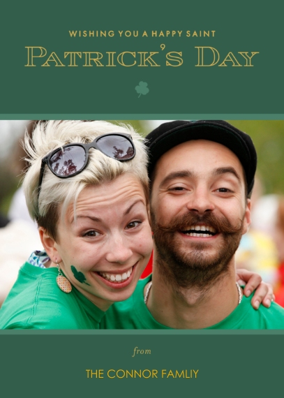St. Patrick's Day Cards 5x7 Cards, Premium Cardstock 120lb with Rounded Corners, Card & Stationery -Go for the Green