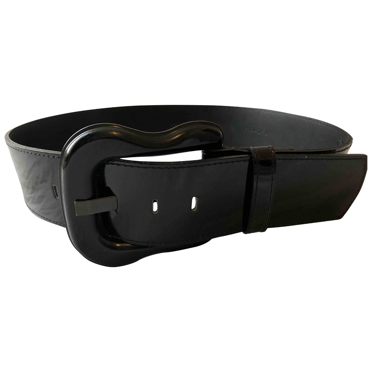 Fendi \N Black Patent leather belt for Women 90 cm