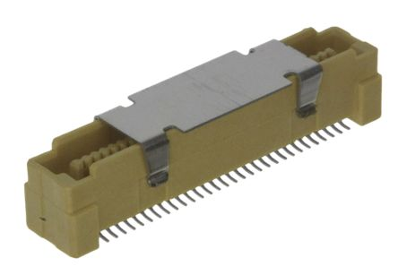 TE Connectivity Free Height 0.8mm Pitch 60 Way Straight SMT Male PCB Header