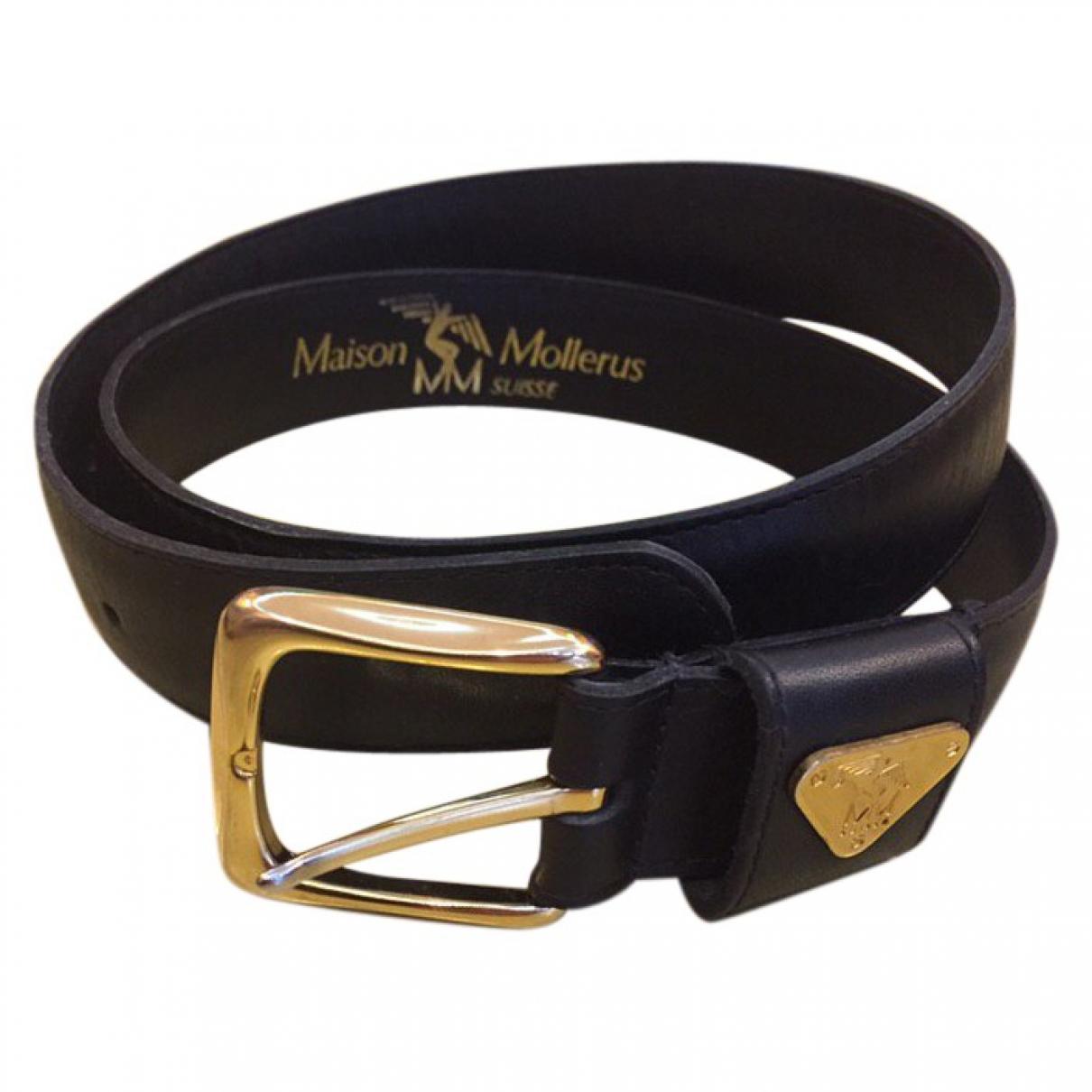 Mollerus \N Black Leather belt for Women 80 cm