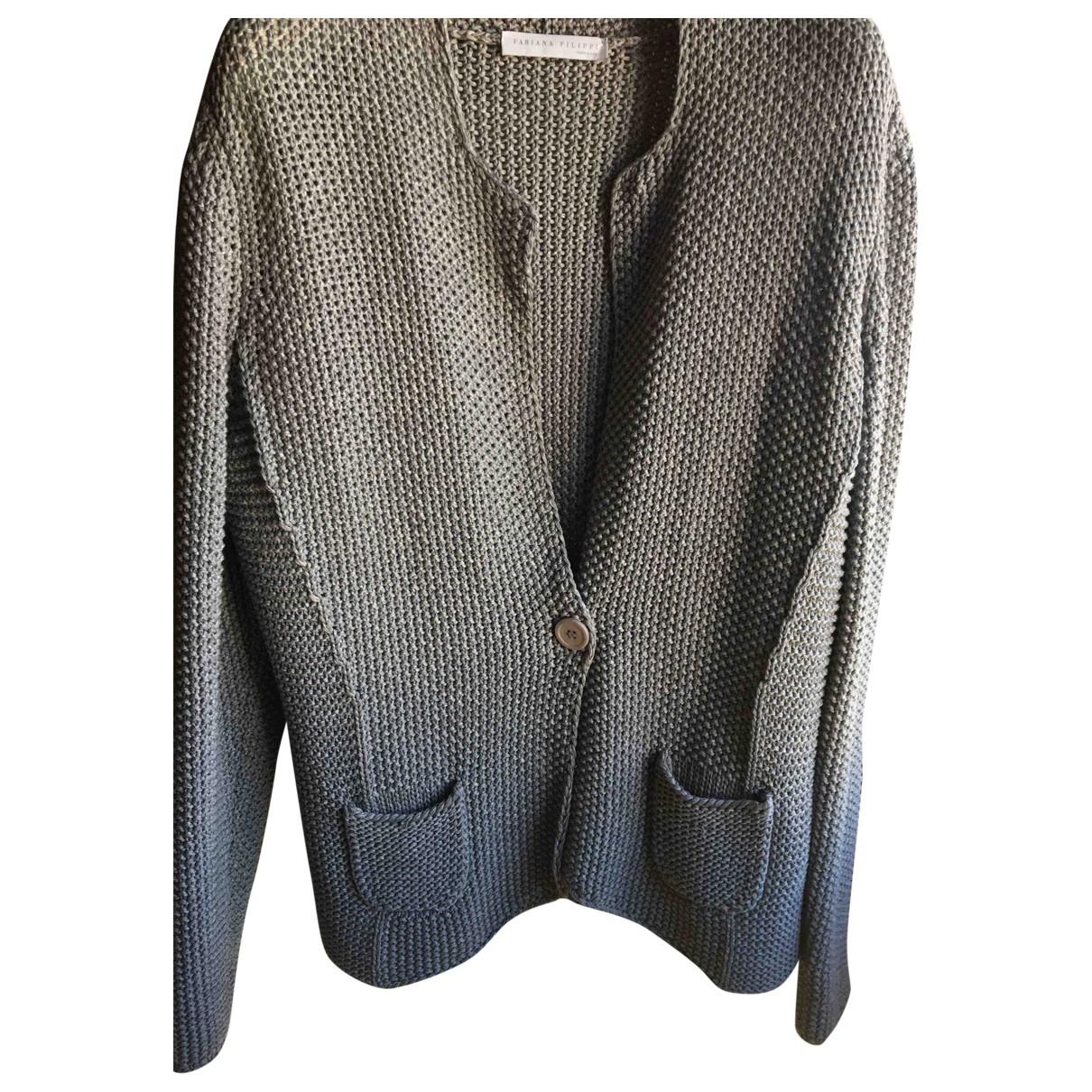 Fabiana Filippi \N Grey Cotton Knitwear for Women 46 IT