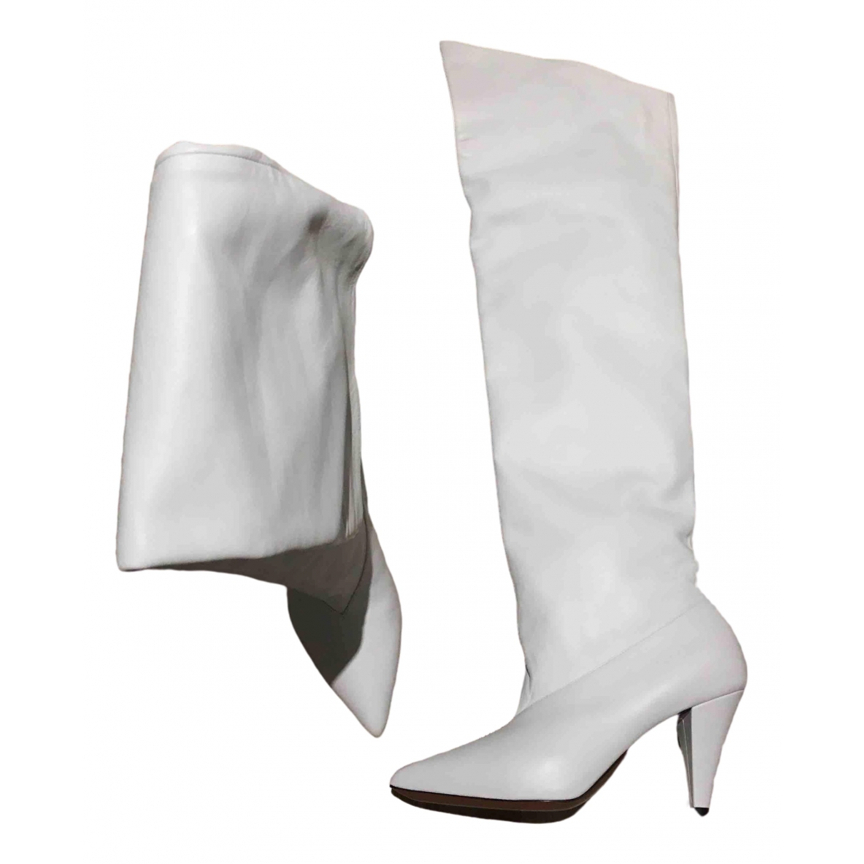 Givenchy \N White Leather Boots for Women 36 EU