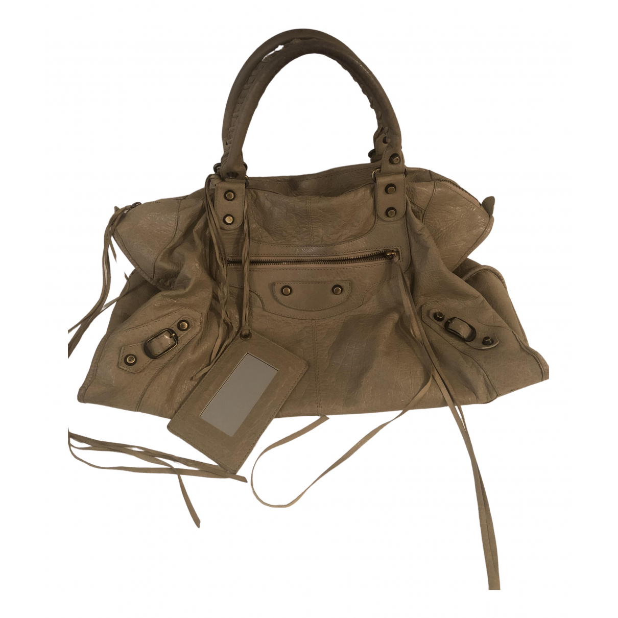 Balenciaga City Beige Leather handbag for Women \N