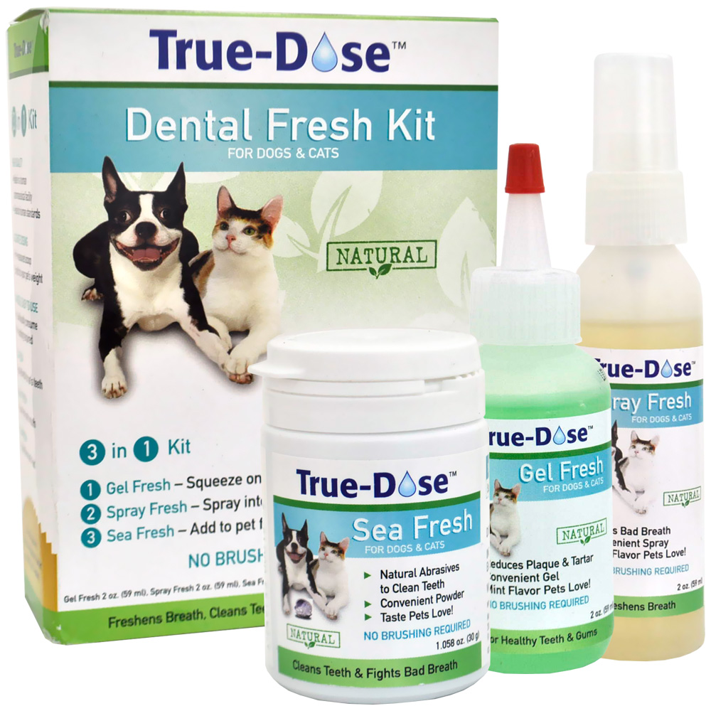 True-Dose Dental Fresh Kit 3-in-1 for Dogs & Cats