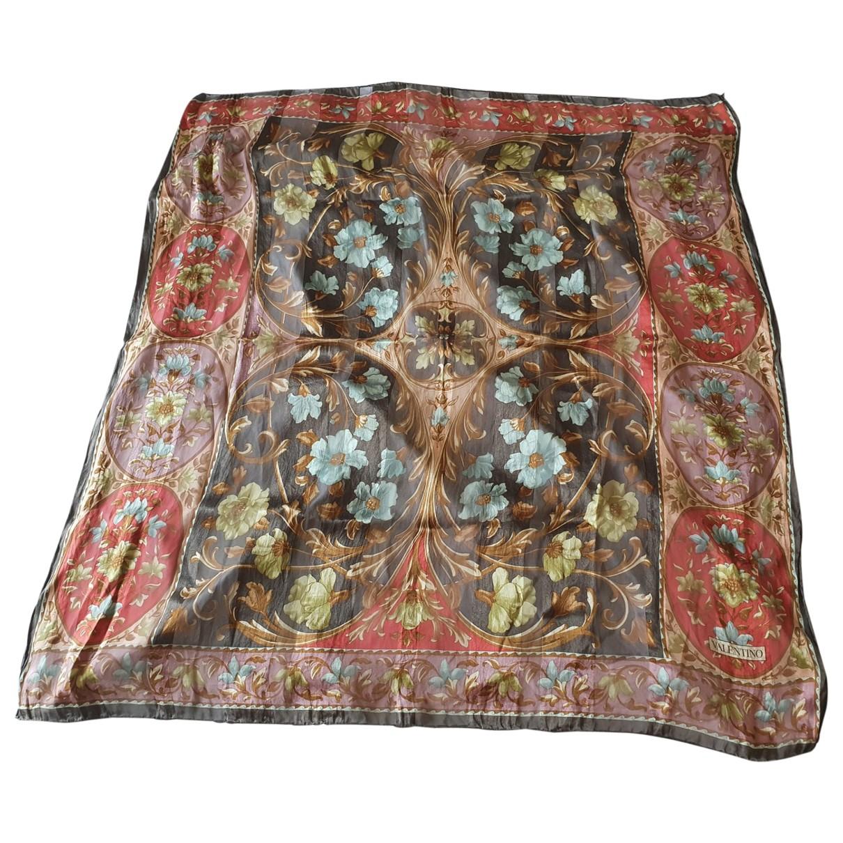 Valentino Garavani \N Grey Silk scarf for Women \N