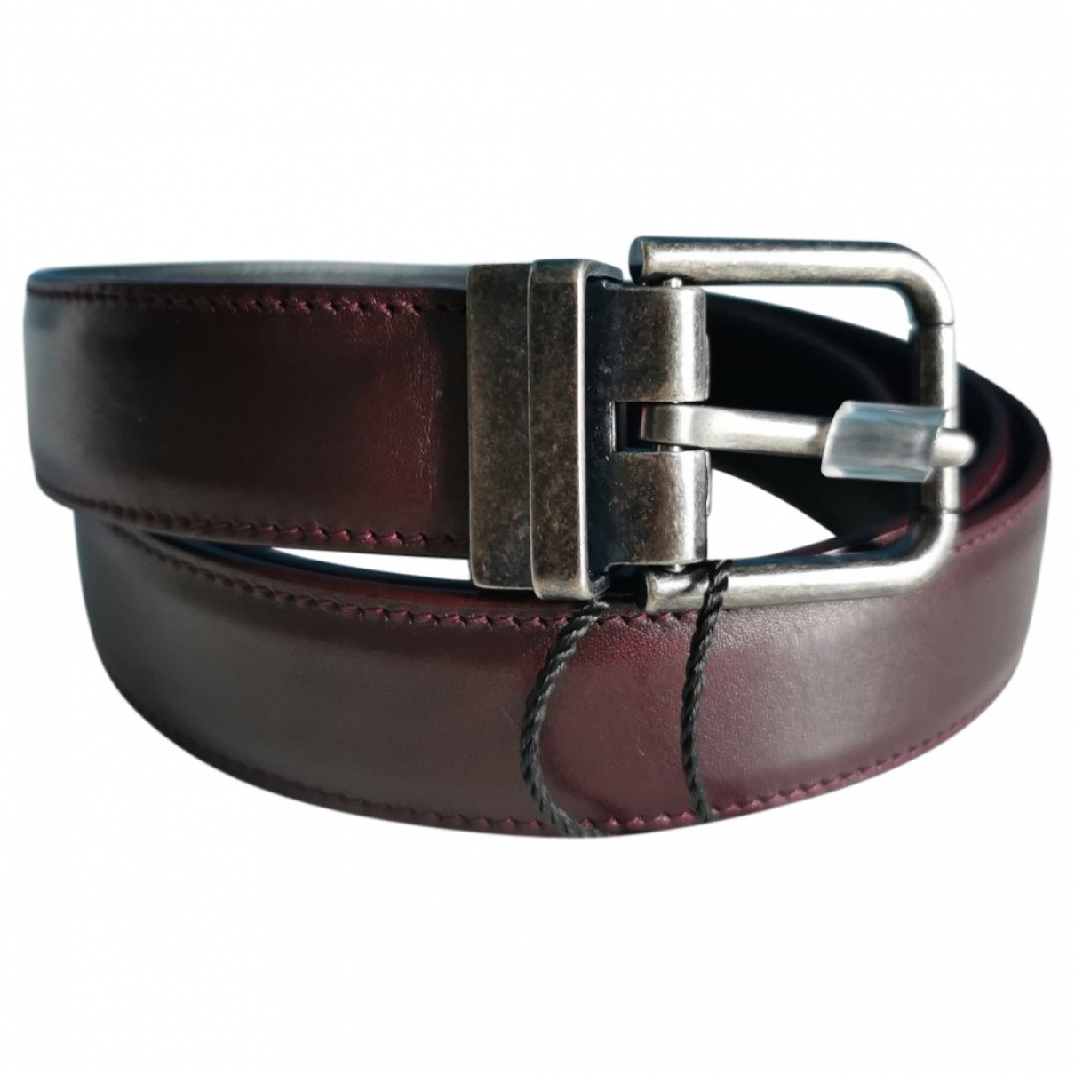 Dolce & Gabbana \N Burgundy Leather belt for Men 95 cm