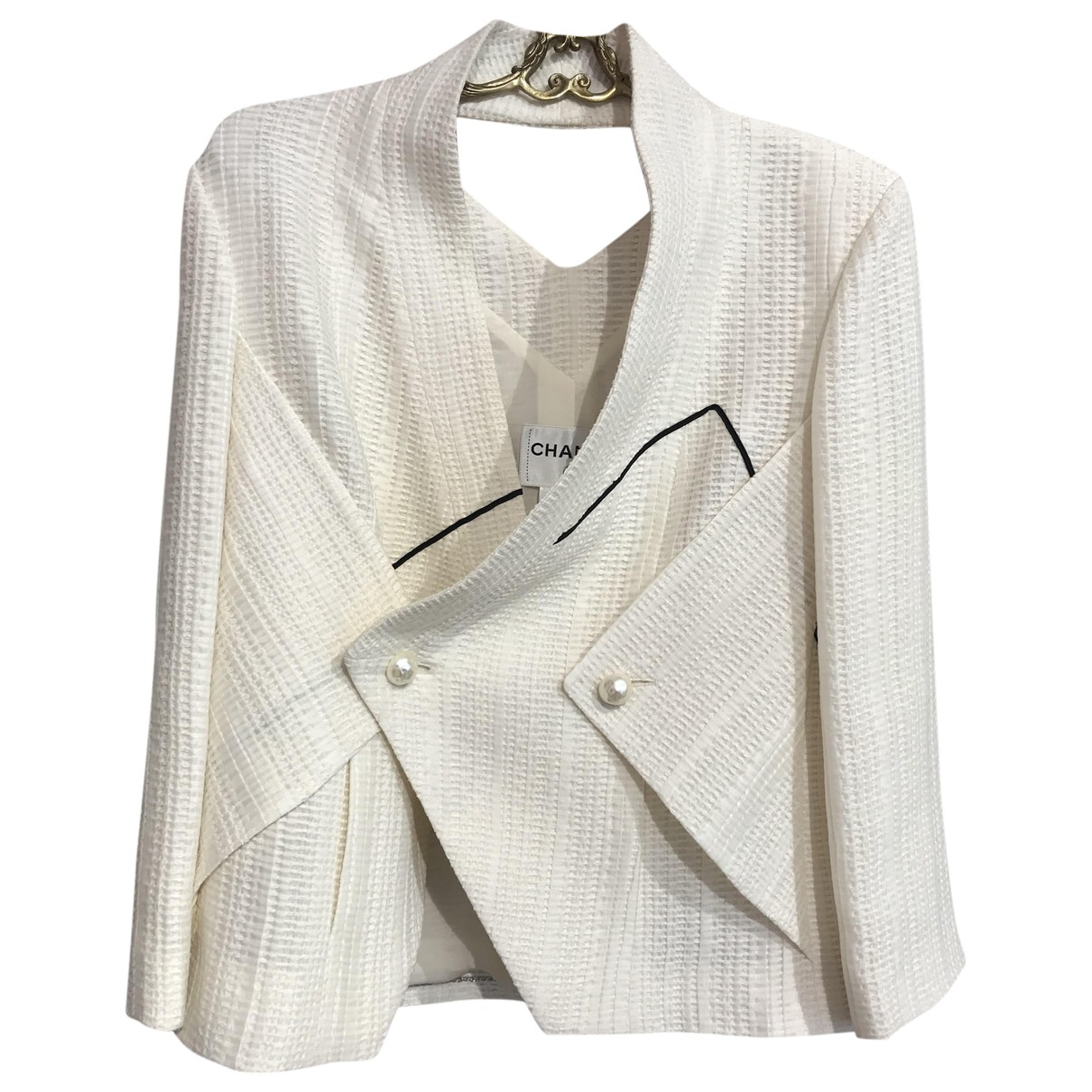 Chanel \N Ecru Cotton jacket for Women 42 FR