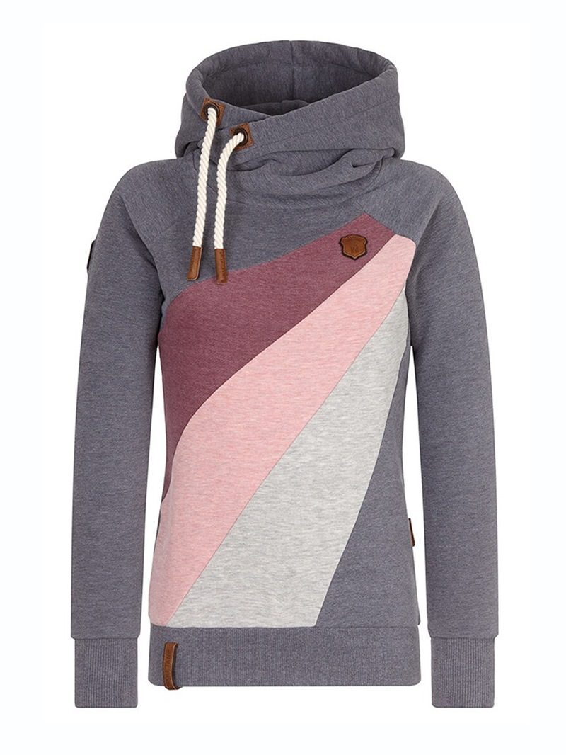 Ericdress Color Block Patchwork Pullover Cool Hoodie