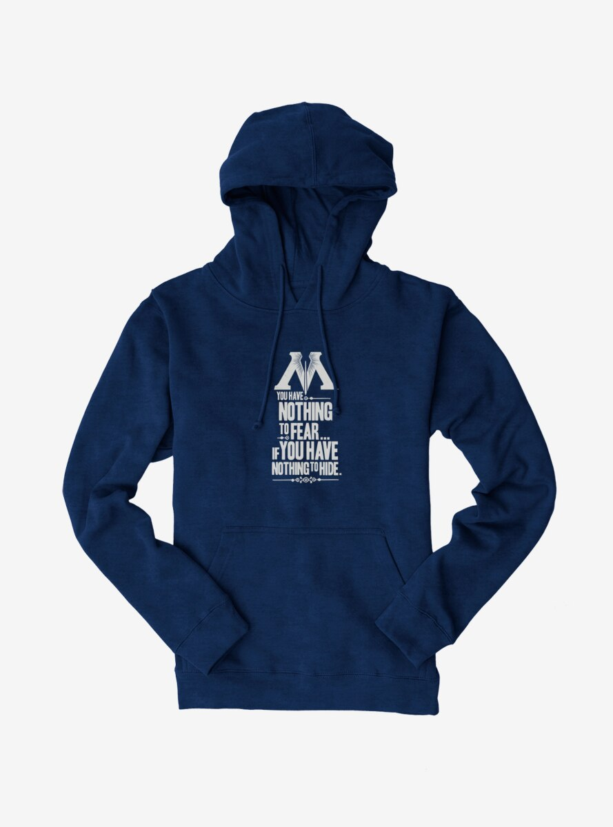 Harry Potter Nothing To Fear Nothing To Hide Hoodie