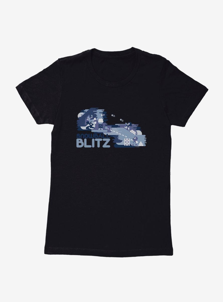 Sonic The Hedgehog Winter Snowball Blitz Womens T-Shirt