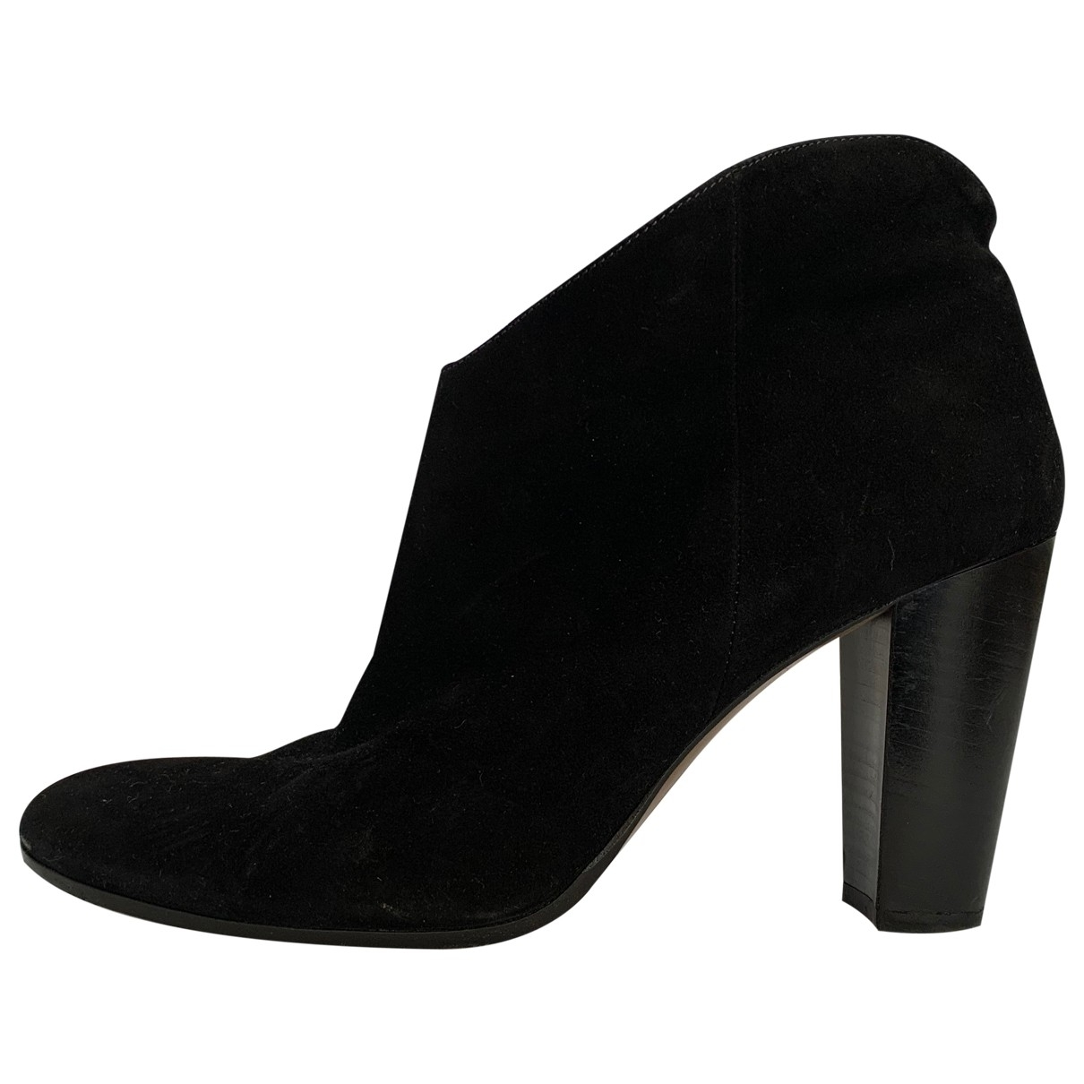 Non Signé / Unsigned \N Black Suede Ankle boots for Women 42 IT