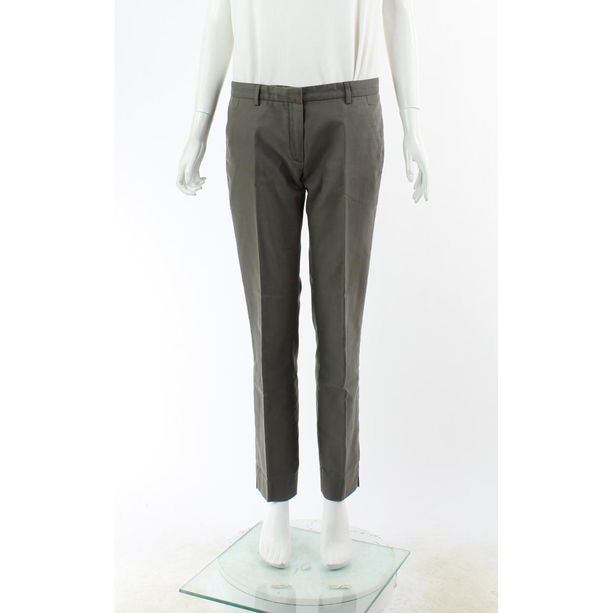 Balenciaga \N Grey Cotton Trousers for Women 40 FR