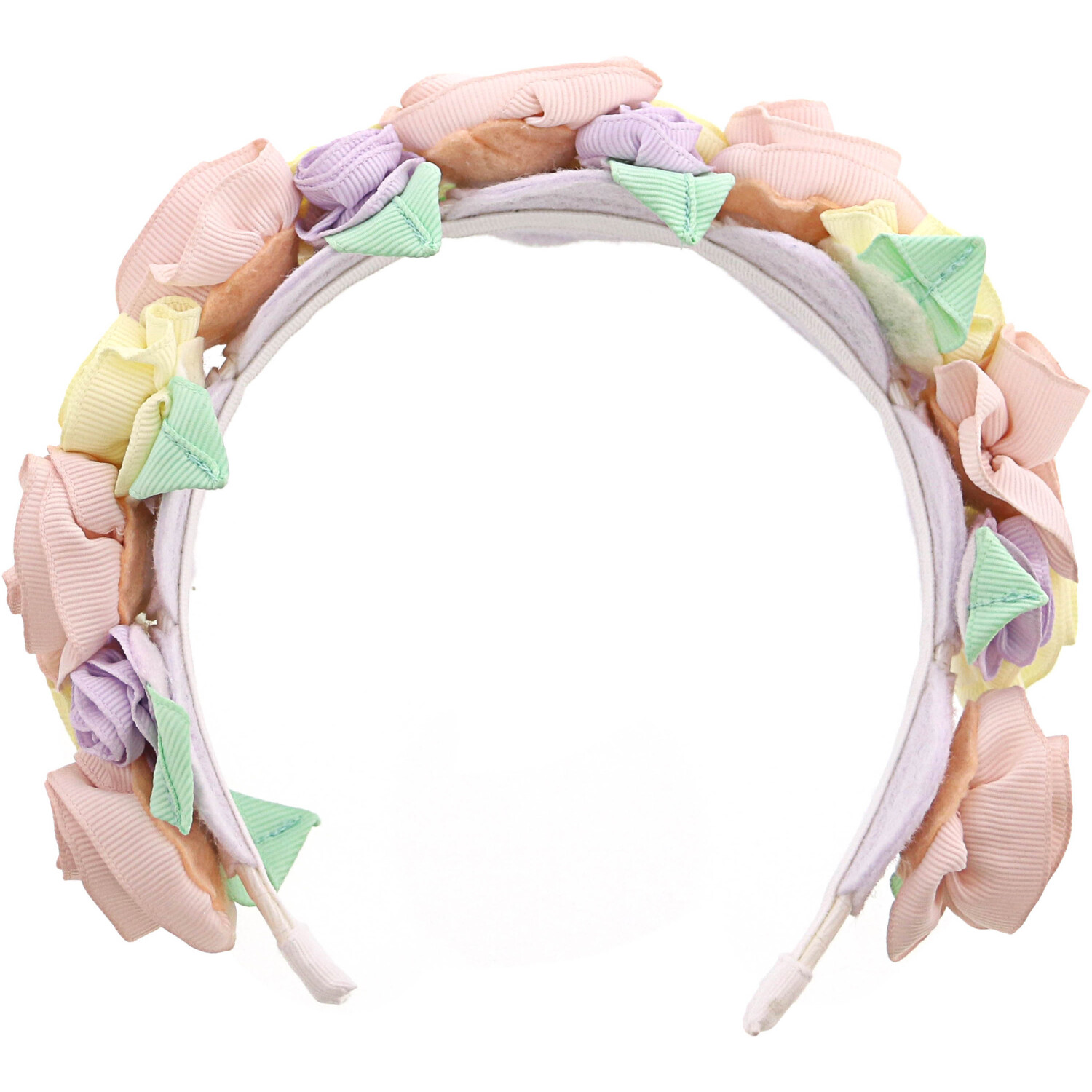 Janie And Jack Girl's Rosette Headband Hair Accessory - One Size - Petal Pink