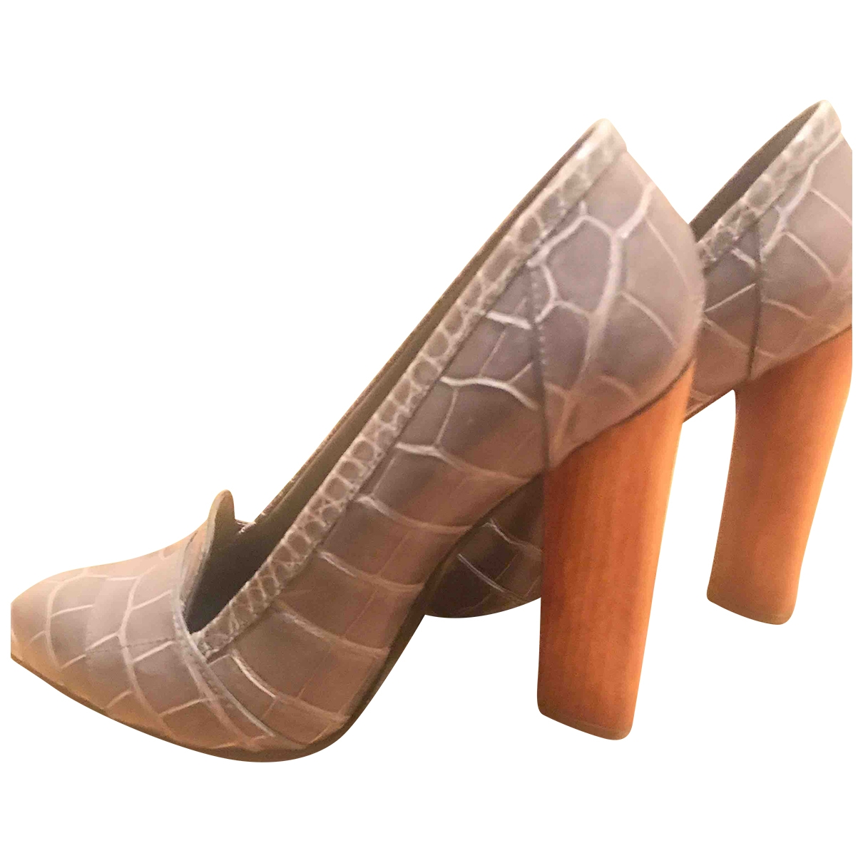 Yves Saint Laurent \N Grey Leather Heels for Women 40 EU