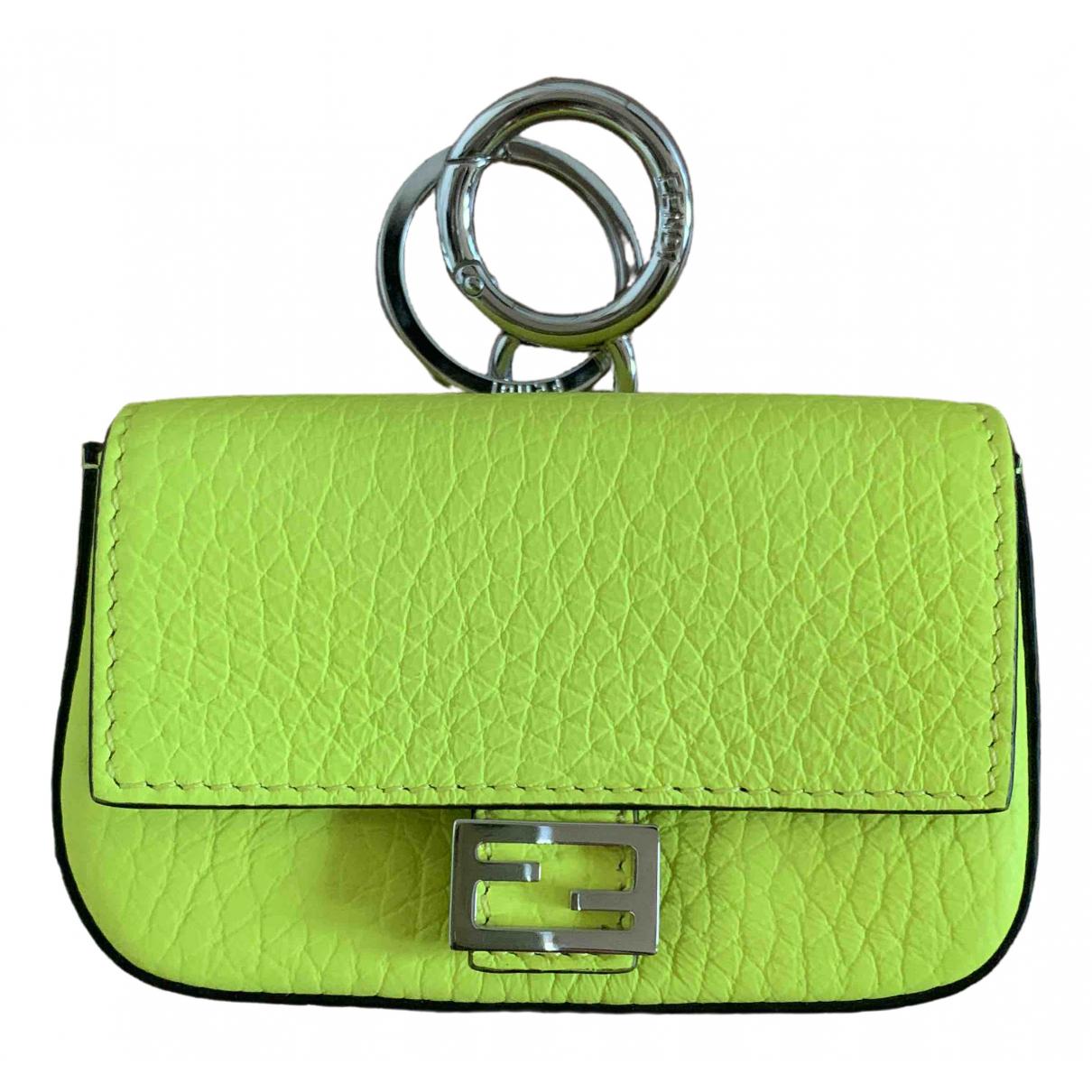 Fendi \N Green Leather Bag charms for Women \N