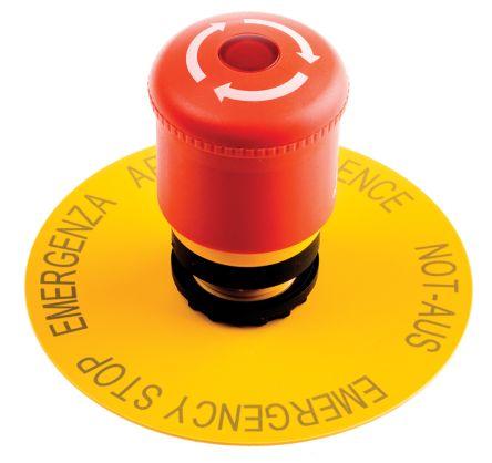 Eaton Mushroom Red Push Button Head - Latching, M22 Series, 22mm Cutout, Dome