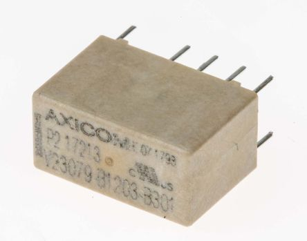TE Connectivity DPDT PCB Mount Latching Relay - 5 A, 12V dc For Use In Signal Applications (50)