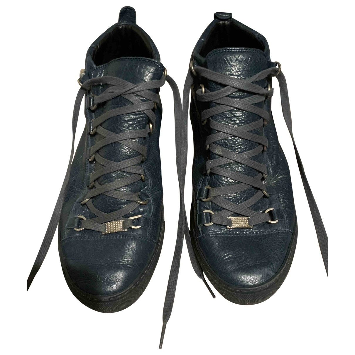 Balenciaga Arena Blue Leather Trainers for Men 42 EU