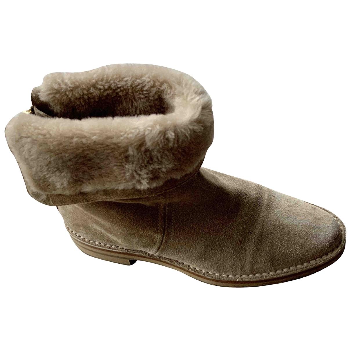 Jimmy Choo \N Beige Suede Ankle boots for Women 38 EU