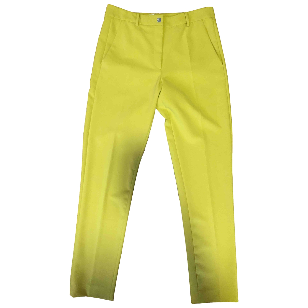 Gianni Versace \N Yellow Trousers for Women 42 IT