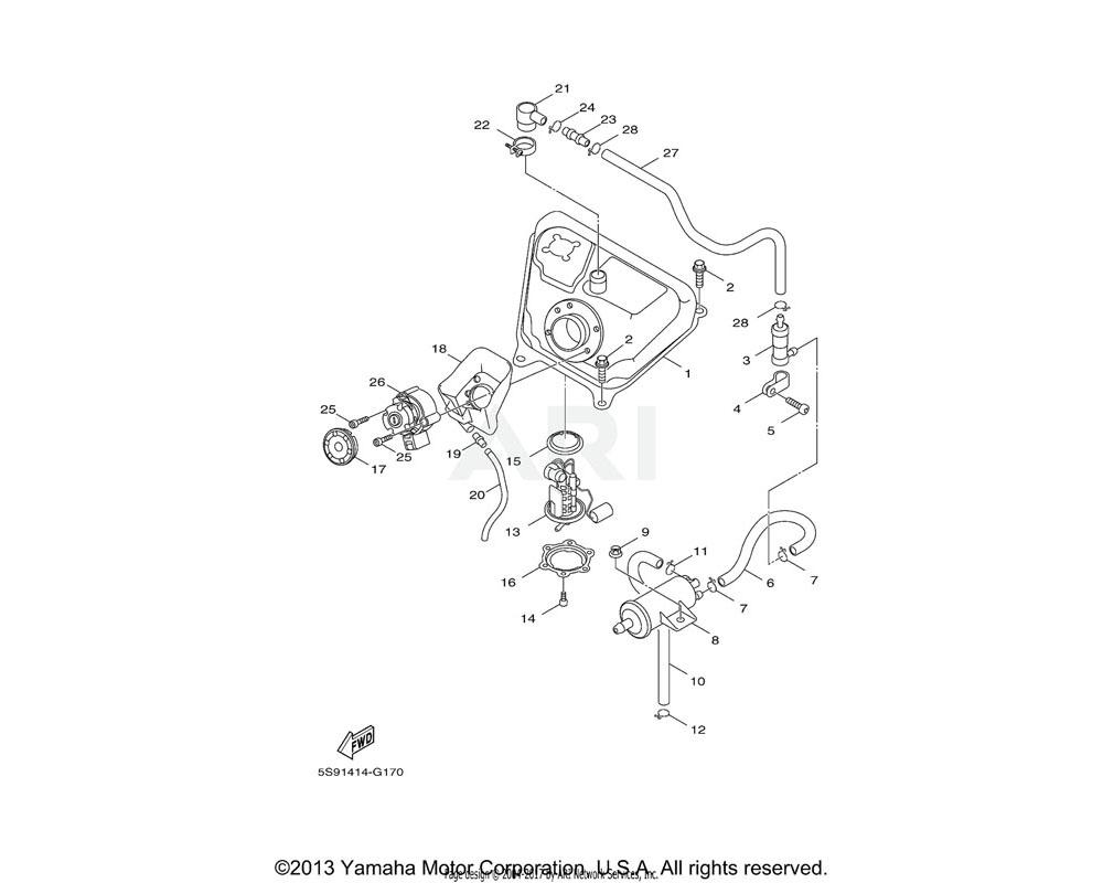 Yamaha OEM 5HK-F4170-00-00 CANISTER ASSY