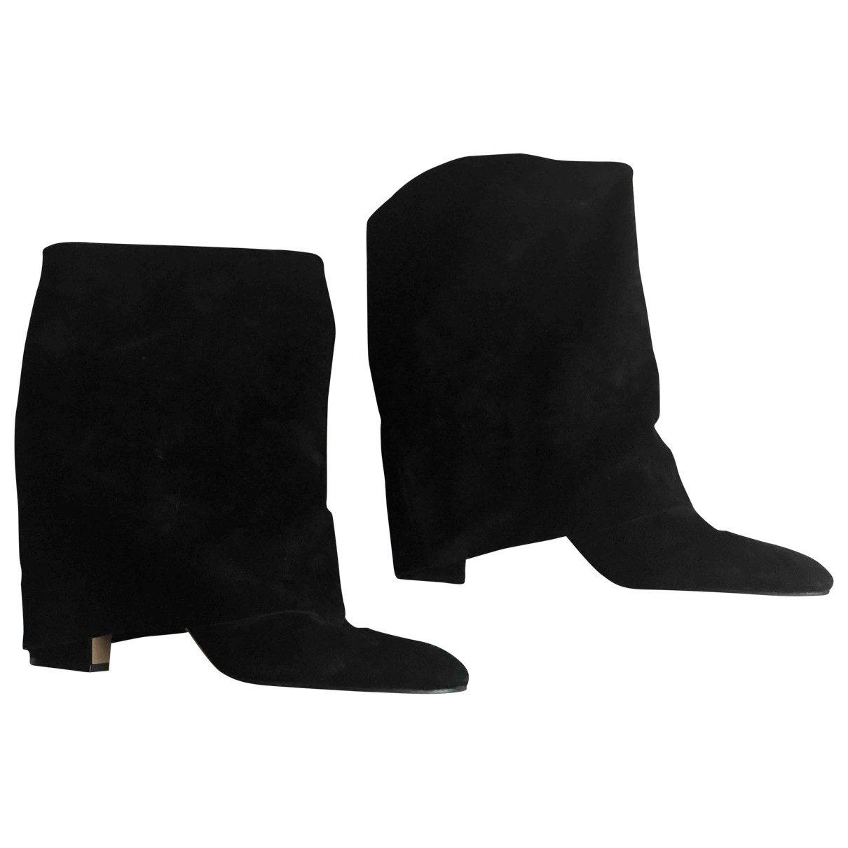 Casadei \N Black Suede Ankle boots for Women 11 US