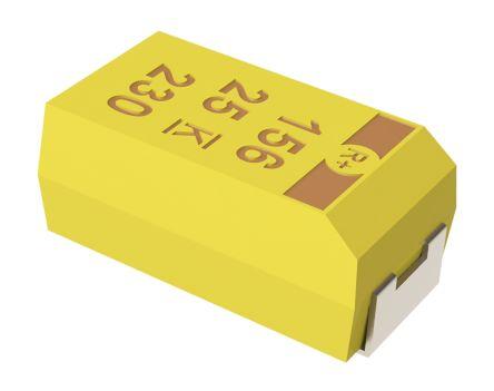 KEMET Tantalum Capacitor 100μF 16V dc MnO2 Solid ±10% Tolerance , T495 (5)