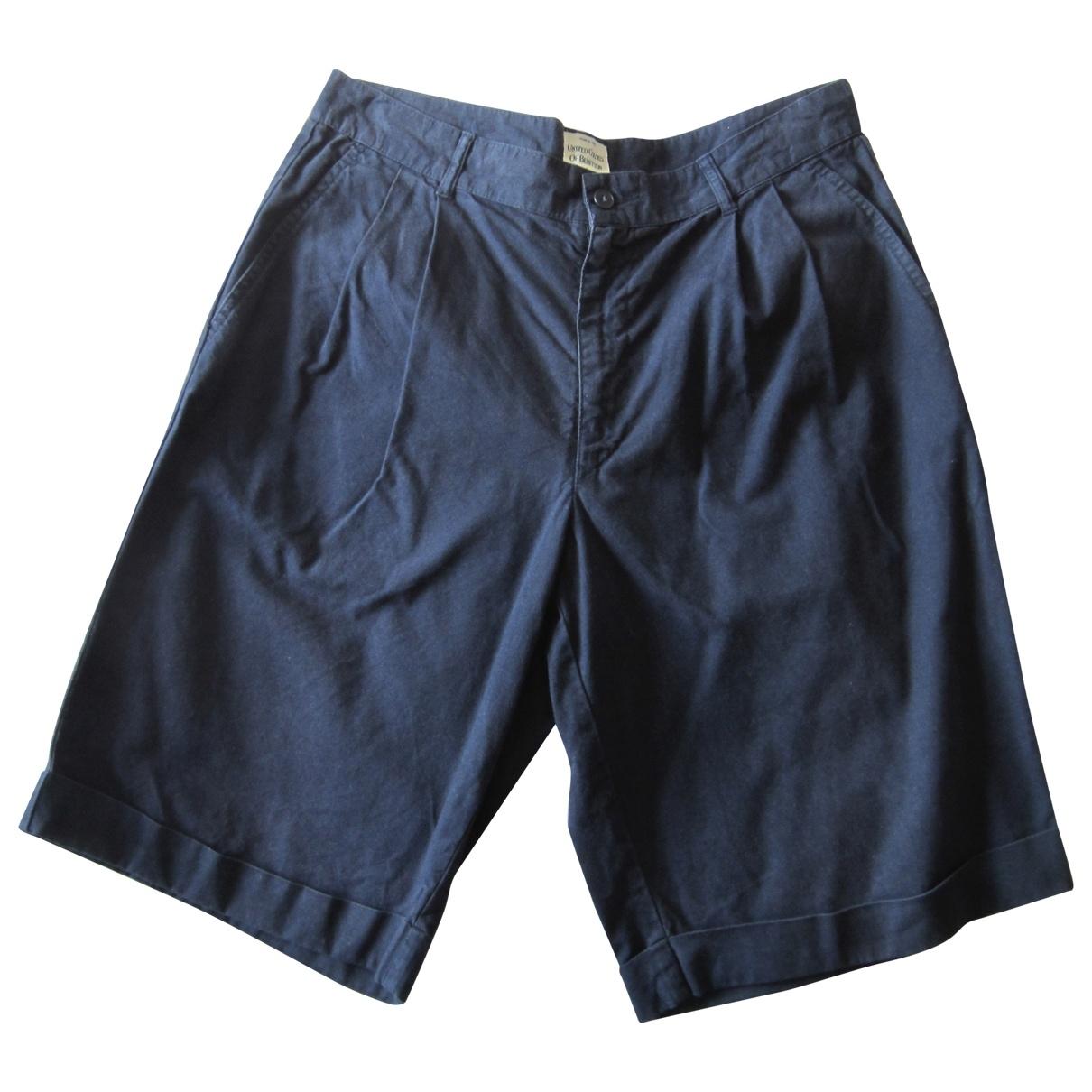 Non Signé / Unsigned \N Blue Cotton Shorts for Men 50 IT