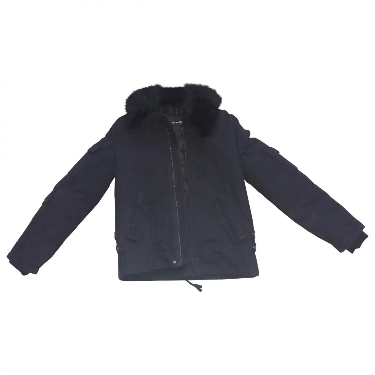 Yves Salomon \N Black Cotton jacket  for Men 46 FR