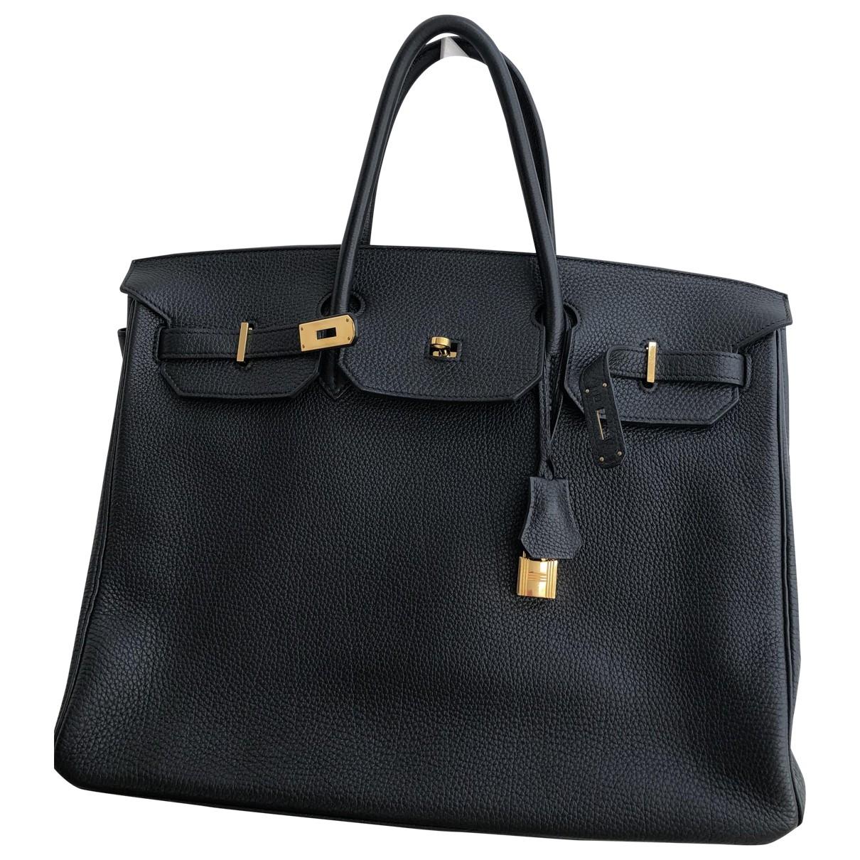 Hermès Birkin 40 Black Leather handbag for Women \N