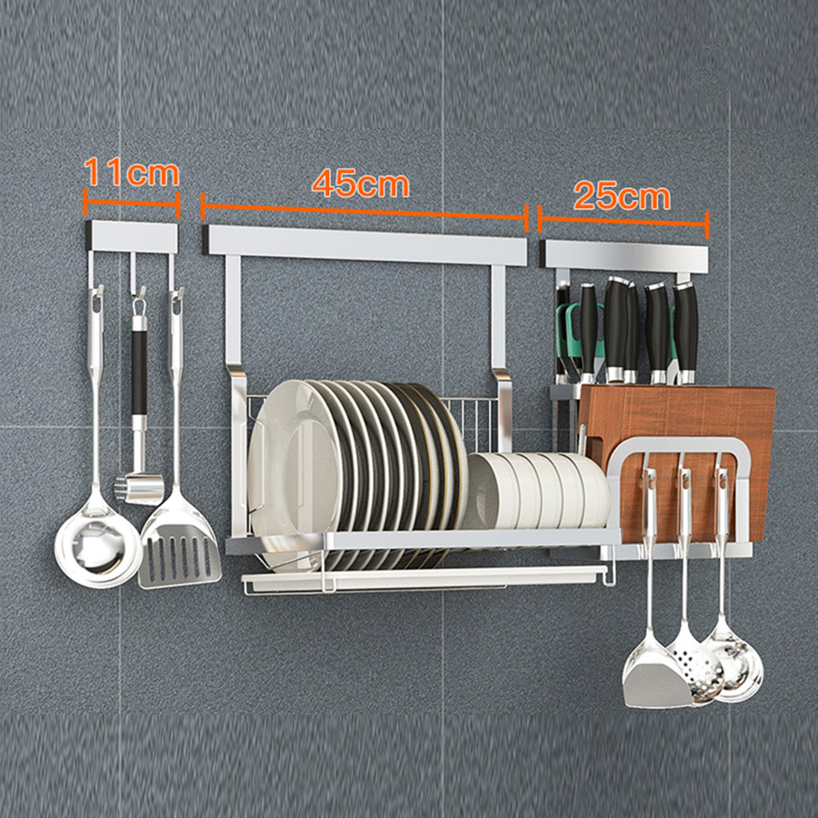 Wall Hanging Stainless Steel Free of Punch Storage Rack