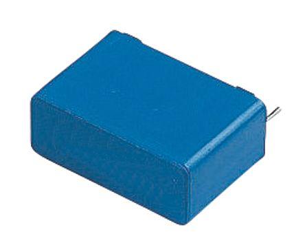 EPCOS 3.3μF Polyester Capacitor PET 40 V ac, 63 V dc ±5%, Through Hole (5)