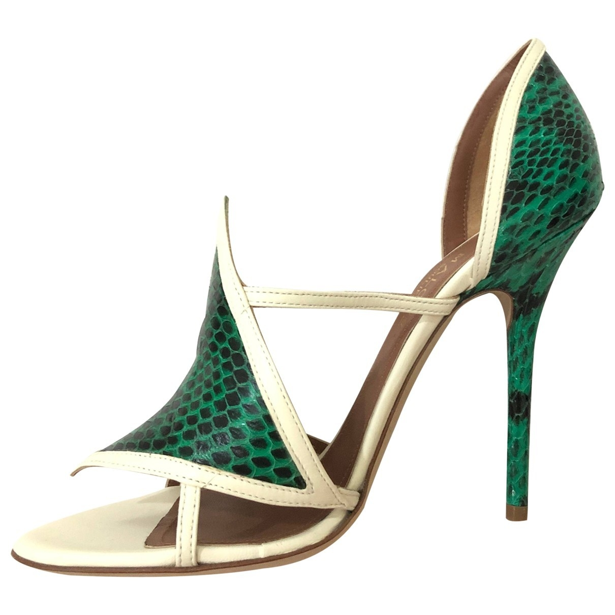 Malone Souliers \N Green Water snake Sandals for Women 38 EU