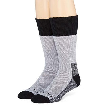 Dickies Mens 2-Pk. Thermal Acrylic Boot Crew Socks, 10-13 , Black