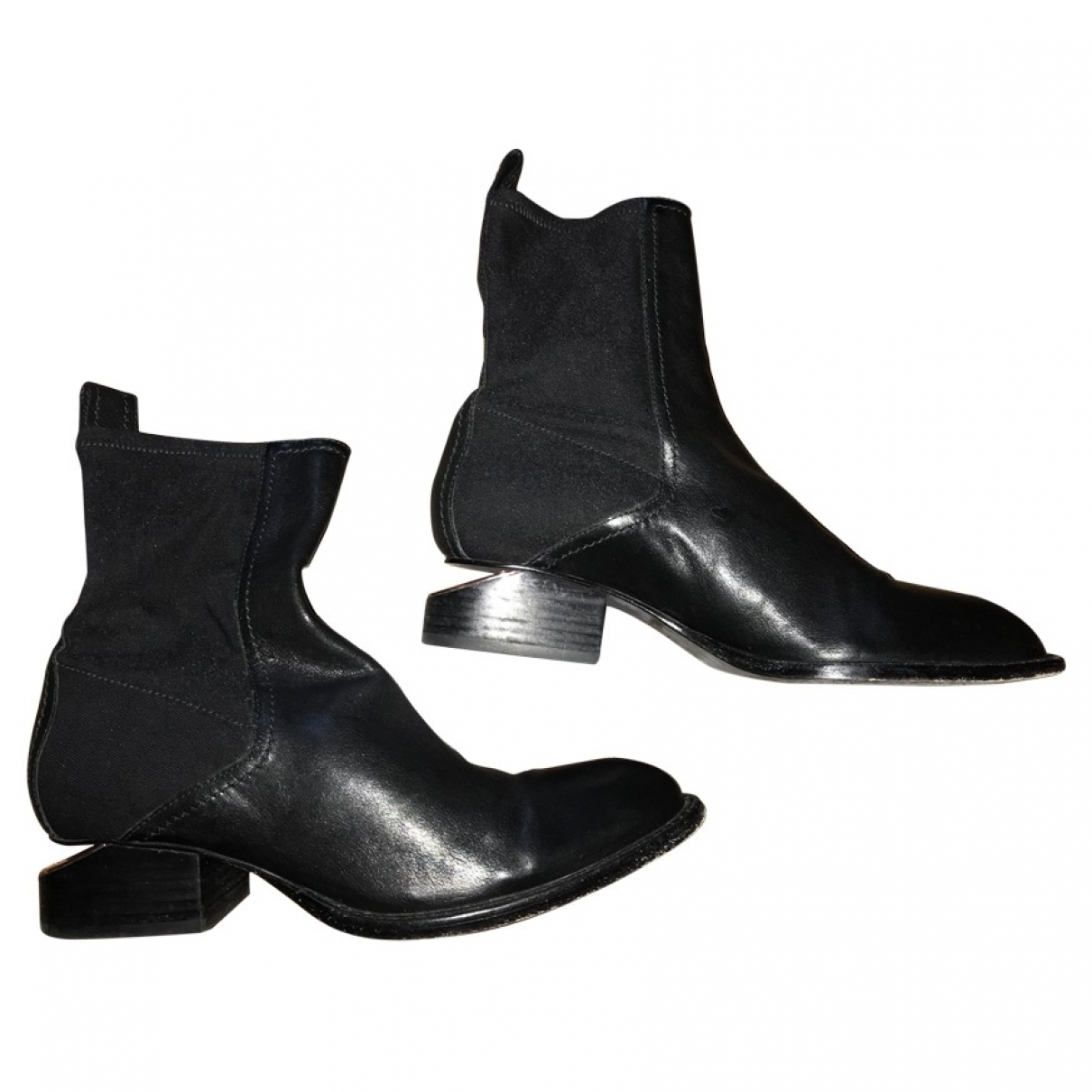 Alexander Wang \N Black Leather Boots for Women 38.5 EU