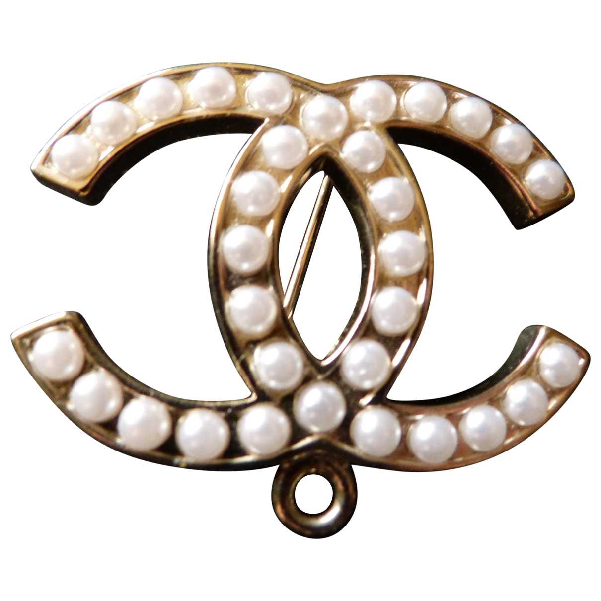Chanel CC Gold Silver Gilt Pins & brooches for Women \N